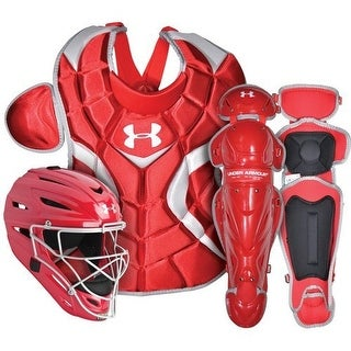 Under Armour Baseball PTH Victory Catching Kit (Scarlet - Senior Size/Ages 12-16)