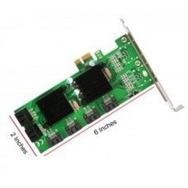 Syba PCI-Express 2.0 x1/ 8-Port Internal SATA 6G Non-Raid Cardwith Low Profile Bracket Marvell 88SE9215+88SM9705 Chipset