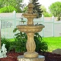 Sunnydaze Two Tier Tulip Solar On Demand Fountain, 36 Inch Tall - Thumbnail 0