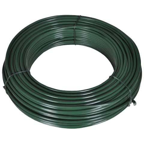 """vidaXL Fence Span Wire 180.4' 0.08""""/0.12"""" Steel Green"""