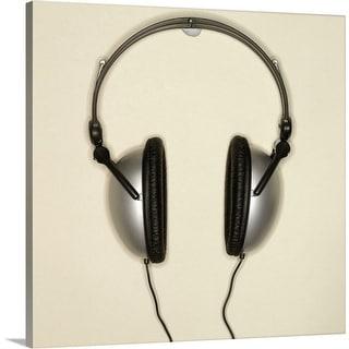 """Close-up of headphones"" Canvas Wall Art"
