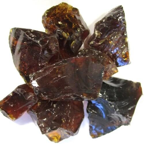 AZ Patio GLASS-AMB Fireglass in Amber