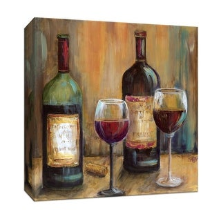 """PTM Images 9-147756  PTM Canvas Collection 12"""" x 12"""" - """"Elegant Reds"""" Giclee Wine Art Print on Canvas"""