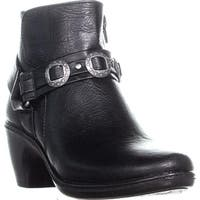 Easy Street Bailey Buckle Ankle Boots, Black