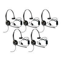 Plantronics Encore Pro HW510 with A10 5-pack Monaural Noise-Cancelling Headset