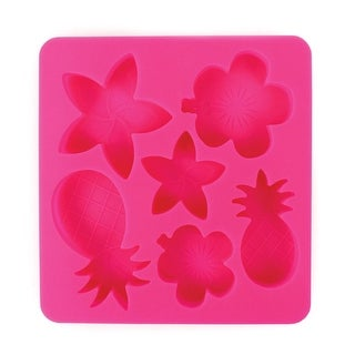 Tropic Chillers Silicone Ice Cube Tray - Beach Themed Shaped Ice Cubes - 6 in. x 6.5 in. x .75 in.