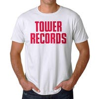 Tower Records Vintage Stack Men's White T-shirt