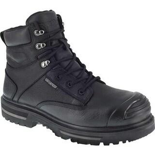 "Iron Age Men's Troweler 6"" Waterproof Composite Toe Work Boot Black Full Grain Leather"