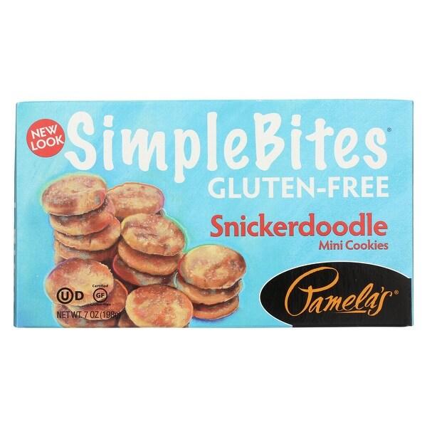 Pamela's Products Simple bites Mini Cookies - Snickerdoodle - Case of 6 - 7 oz.