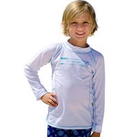 Sun Emporium Baby Boys White Multi Panel Long Sleeve Rash Guard