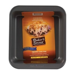 """Baker's Secret 1114436 Square Cake Pan, Non Stick, Gray, 8"""" x 8"""""""