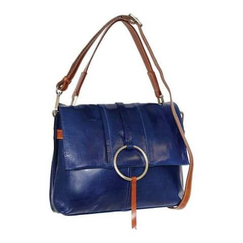 4215e0983cd4 Nino Bossi Women's Nyla Leather Satchel Blue - US Women's One Size (Size ...