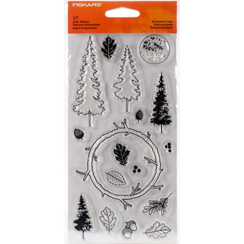 """Fiskars Clear Stamps 4""""X8""""-Enchanted Forest"""