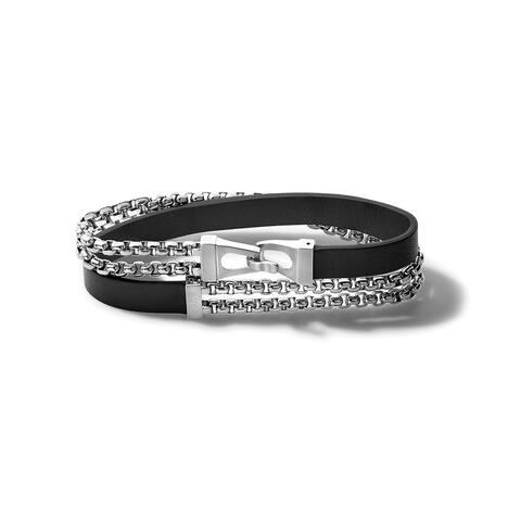 Bulova Mens Classic Wrap Bracelet - J96B015L - Black