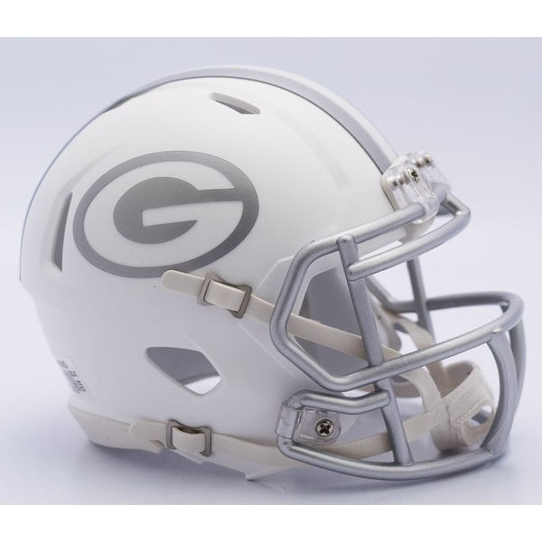 9f2932c4b20 Shop Green Bay Packers Riddell Matte White ICE Alternate Speed Mini  Football Helmet - Free Shipping Today - Overstock - 13074961