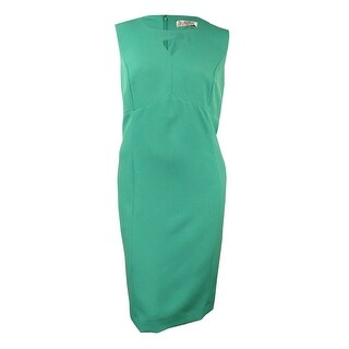 Kasper Women's Plus Size Cut Out Triangle Solid Crepe Dress - 20W