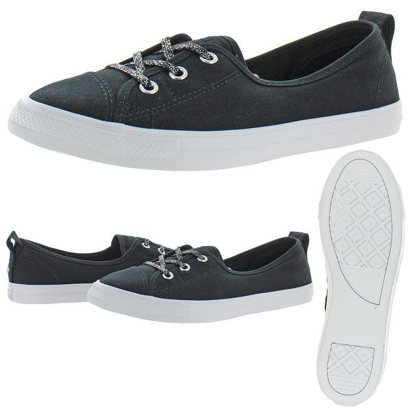 Shop Black Friday Deals On Converse Womens Ctas Ballet Lace Slip Sneakers Trainers Low Top Black Silver White Overstock 32008485