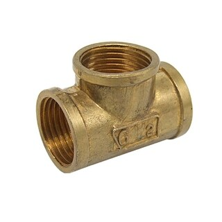 Unique Bargains 1/2 Bronze Equal Tee FxFxF Thread Water Pipe Splitter Hibnt