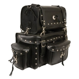 Heavy Duty Studded Motorcycle Sissy Bar Bag 18X12X9