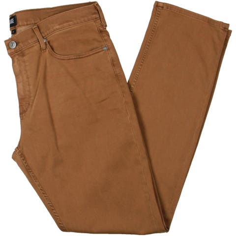 Paige Mens Federal Straight Leg Jeans Denim High Rise - Vintage Marigold - 38