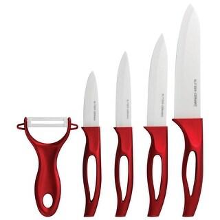 Slitzer 5 pc Ceramic Cutlery Set