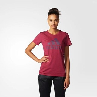 Adidas Women's Badge of Sport Classic Short Sleeve T-Shirt Red X-Large - xl (16)