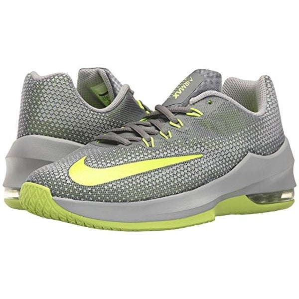Nike Kids Air Max Infuriate Basketball Big Kid Cool Grey/Volt/Wolf Grey Boys