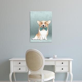 Easy Art Prints Barruf's 'Corgi Dog' Premium Canvas Art