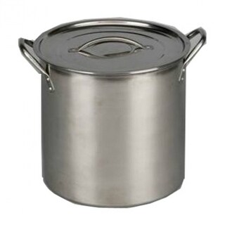 Good Cook 06181 Brushed Stainless-Steel Stock Pot w/ Lid & Handles, 12 Qt