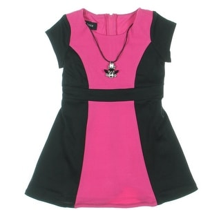 Amy Byer Girls Pique Colorblock Casual Dress - 4