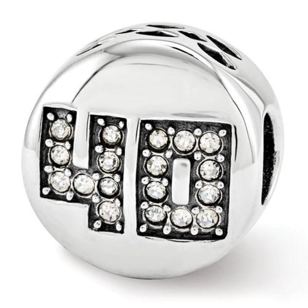 Sterling Silver Reflections Swarovski Elements Fabulous 40 Bead (4mm Diameter Hole)