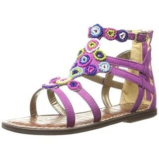 Sam Edelman Girls Bella Microsuede Gladiator Sandals - 13