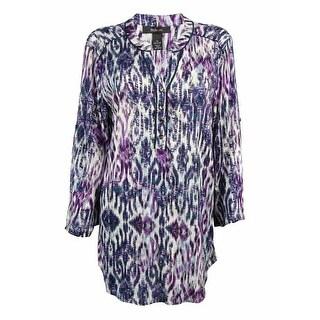 Style & Co. Women's Tab Sleeve Tunic Top - m