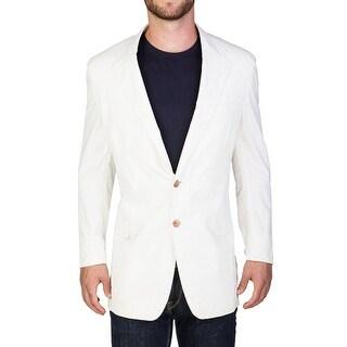 Prada Men's Cotton Two-Button Pinstriped Sportscoat White - 46
