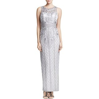 Sue Wong Womens Formal Dress Embroidered Satin - 6