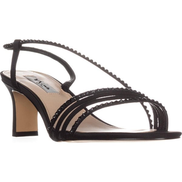 Nina Gerri Cross Strap Evening Sandals, Black