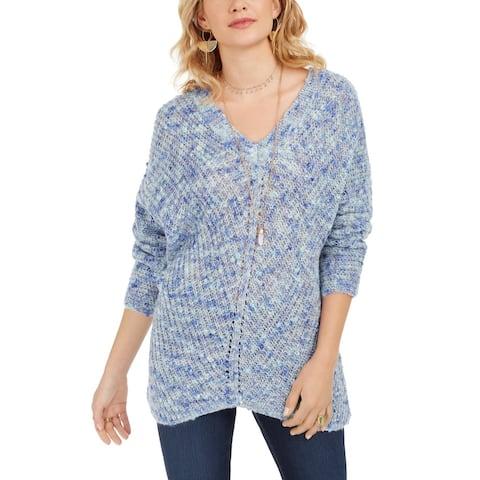 Style & Co Women's V-Neck Dolman-Sleeve Sweater Blue 2 Extra Large