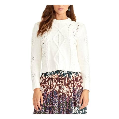 RACHEL ROY Womens White Long Sleeve Crew Neck Sweater Size XL