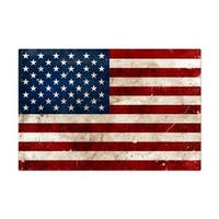 Past Time Signs VXL146 USA Flag Allied Military Metal Sign