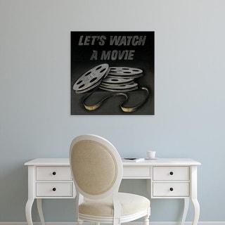 Easy Art Prints Wild Apple Portfolio's 'Lets Watch a Movie' Premium Canvas Art