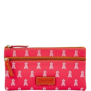 Dooney & Bourke MLB Angels Double Zip Flat Pouch (Introduced by Dooney & Bourke at $85 in Oct 2015) - Red