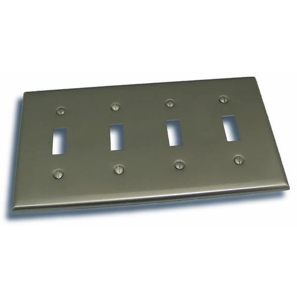 """Residential Essentials 10842 4.5"""" X 8.25"""" Quadruple Toggle Switch Plate Featuring a Rustic / Country Theme"""
