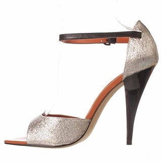 Rebecca Minkoff Ellie Ankle Strap Sandals - Silver Crushed Metallic