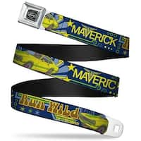 Ford Emblem Vintage Ford Maverick Run Wild Be A Maverick Blues Yellows Seatbelt Belt