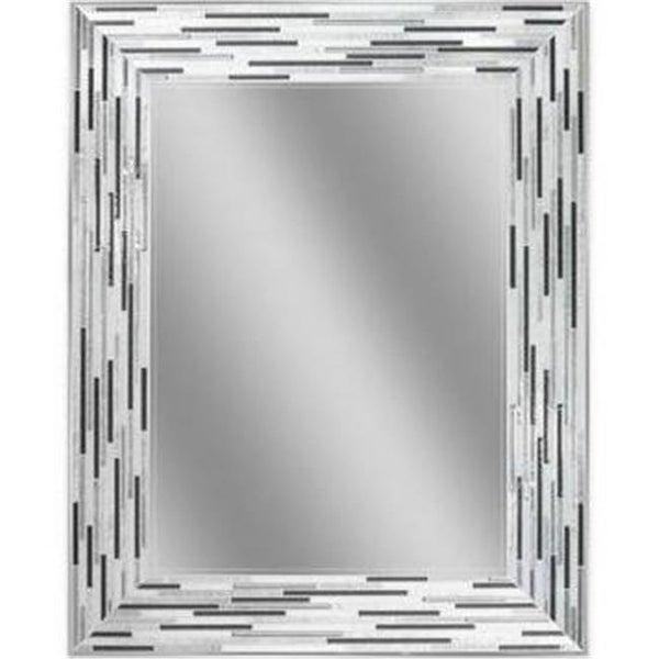 Head West 1220 24 X 30 In Reeded Charcoal Tiles Mirror Silver