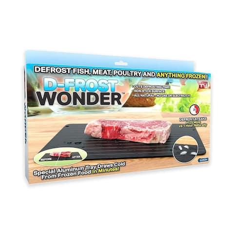 As Seen On TV Defrost Wonder Quick Defrosting Tray, Black