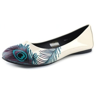 T.U.K. Peacock Flat Round Toe Patent Leather Flats