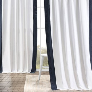 Link to Exclusive Fabrics Vertical Colorblock Panama Curtain Similar Items in Curtains & Drapes