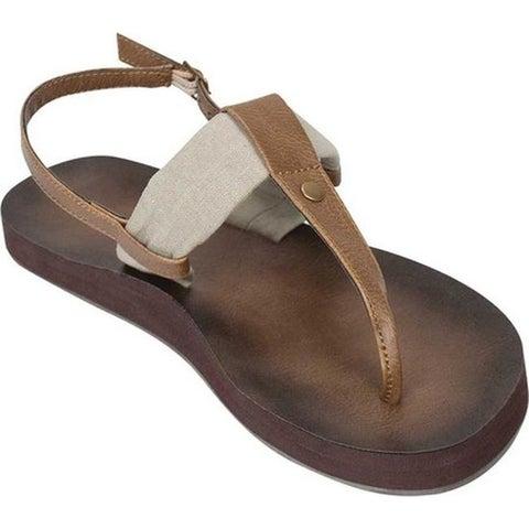 Tidewater Sandals Women's Montauk Thong Sandal Natural