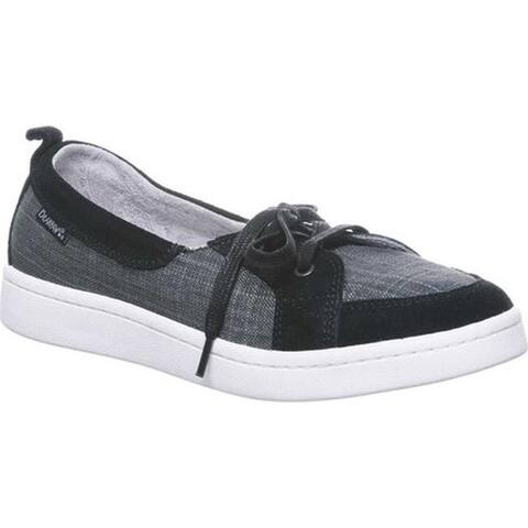 Bearpaw Women's Wilde Boat Shoe Black II Cow Suede